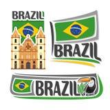 Vector logo Brazil Royalty Free Stock Images