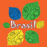 Vector logo for Brazil Royalty Free Stock Photo