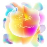 The Vector logo brith summer. Stock Photography