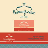 Vector logo, business card and banner. Royalty Free Stock Images
