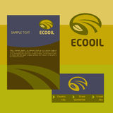 Vector logo, business card and cover for the Royalty Free Stock Photo