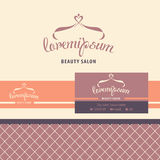 Vector logo, business card, identification for Royalty Free Stock Photography
