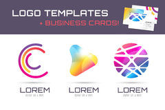 Vector logo and business card template. Abstract Stock Photo