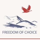 Vector logo business training about freedom of choice.  Royalty Free Stock Images