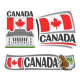 Vector logo for Canada Royalty Free Stock Photo