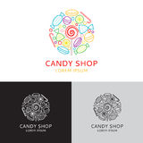 Vector logo of candy shop Royalty Free Stock Photography