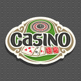 Vector logo for Casino club on grey background vector illustration