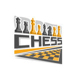 Vector logo for Chess Royalty Free Stock Images