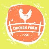 Vector logo. Chicken farm. Stock Photo