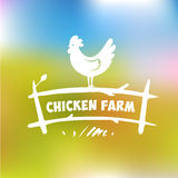 Vector logo. Chicken farm Stock Photo