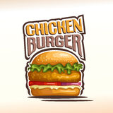 Vector logo chickenburger Stock Image