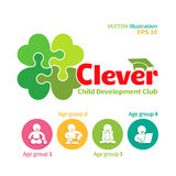 Vector logo of child development club Royalty Free Stock Photography