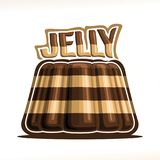Vector logo for chocolate Jelly Stock Photography