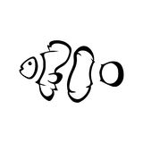 Vector logo clown fish. Coral fish logotype Royalty Free Stock Photo
