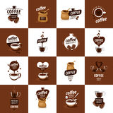 Vector logo for coffee. Hot drink illustration Royalty Free Stock Images