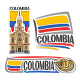 Vector logo Colombia royalty free illustration