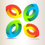 Vector logo. A colorful vector logo with elliptical shapes Royalty Free Stock Photography