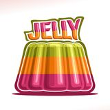 Vector logo for colorful Jelly Royalty Free Stock Image