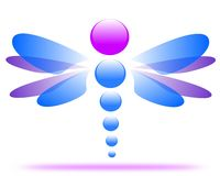 Drawing of a dragonfly company logo. vector illustration