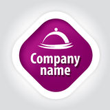 Concept logo public catering. Vector logo concept purple catering Royalty Free Stock Image