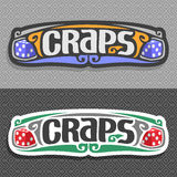 Vector logo for Craps Royalty Free Stock Photography