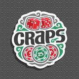 Vector logo for Craps Stock Images