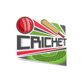 Vector logo for Cricket game Stock Photography