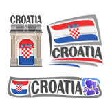 Vector logo for Croatia Royalty Free Stock Photo