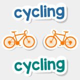 Vector logo cycling on a light background Royalty Free Stock Image
