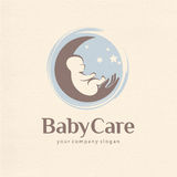 Vector logo design of baby care, motherhood and childbearing Stock Photo