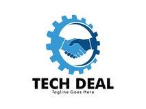 Vector logo design of car dealer technology business deal marketing and auto shop service Stock Photos