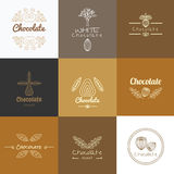 Vector logo design concepts and templates in trendy linear style Royalty Free Stock Image