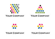 Vector logo and design elements. For your company in 2012. Text and colors can be changed in additional format Royalty Free Stock Image