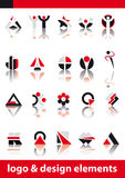 Vector logo and design elements royalty free stock photo