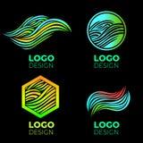 Vector logo design elements set stock illustration