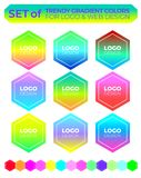 Vector logo design elements set stock photo
