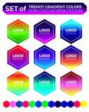 Vector logo design elements set stock photography