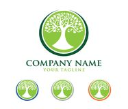 Vector logo design illustration of oak tree logo, wise and strong, house property firm, green home stay resort. This is vector logo design illustration perfectly Stock Photo