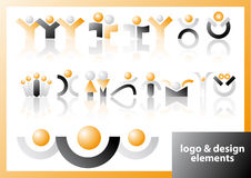 Vector logo & design symbols Stock Images