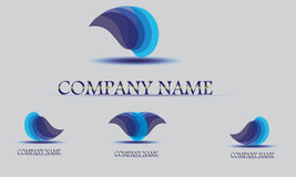 Vector logo design template. Abstract blue water drop, wave shape Royalty Free Stock Photo