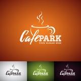 Vector Logo Design Template de la taza de Coffe Sistema del ejemplo de la etiqueta de la tienda de Cofe con diverso color Foto de archivo