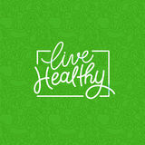 Vector logo design template with hand-lettering text - live heal Stock Images