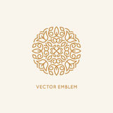Vector logo design template and monogram concept Stock Images