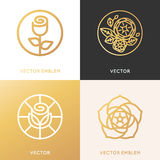 Vector logo design template and monogram concepts in trendy line Stock Images
