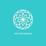 Vector logo design template - rose flower Stock Image