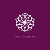 Vector logo design template - rose flower Stock Images