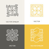 Vector logo design template in trendy linear style Stock Photo