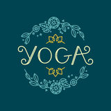 Vector logo design template - yoga Stock Photos