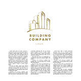 Vector logo design for urban building company and industrial business. Royalty Free Stock Photos