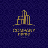 Vector logo design for urban building company and industrial business. Stock Images